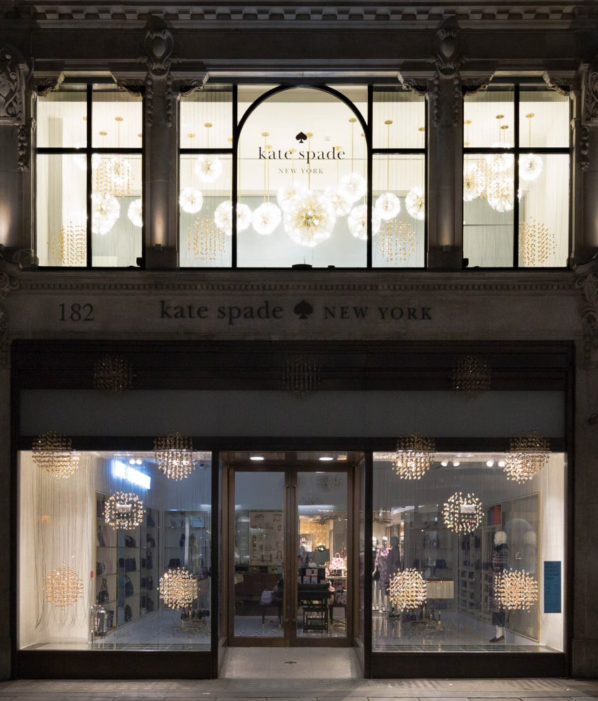 Kate Spade RIBA window display 2016 with Design Haus Liberty