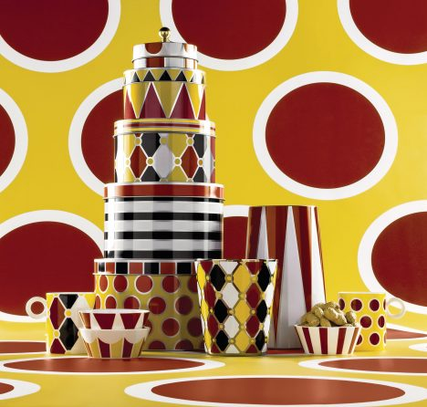 Marcel Wanders creates circus-themed collection of tableware for Alessi
