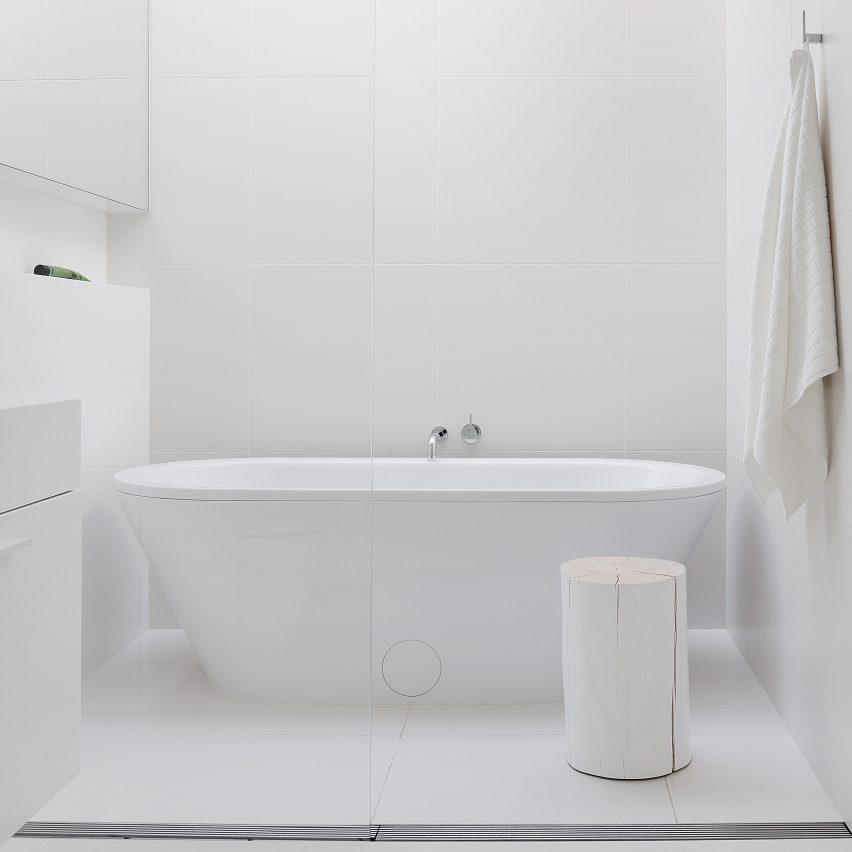 Alred Street Residence by StudioFour features in Dezeen's Pinterest bathroom roundup