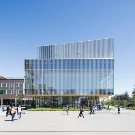 Vancouver university building by KPMB and HCMA features fritted glass and rough-sawn cedar