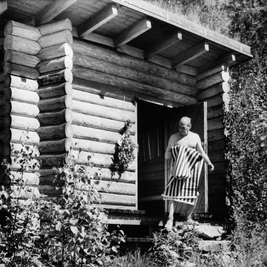 Alvar Aalto's sauna is part of Jane Withers' Soak Steam Dream exhibition at the London Design Festival 2016