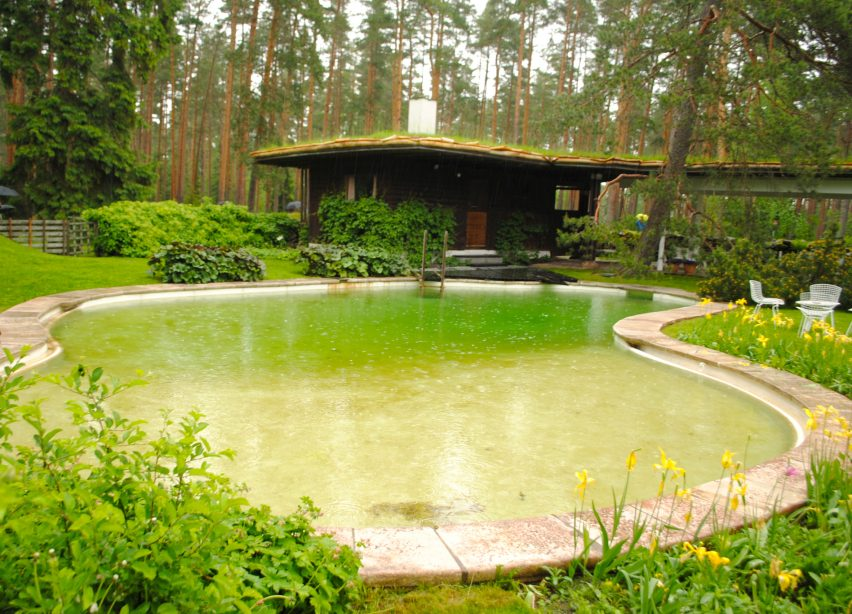 Alvar Aalto's swimming pool at Villa Mairea