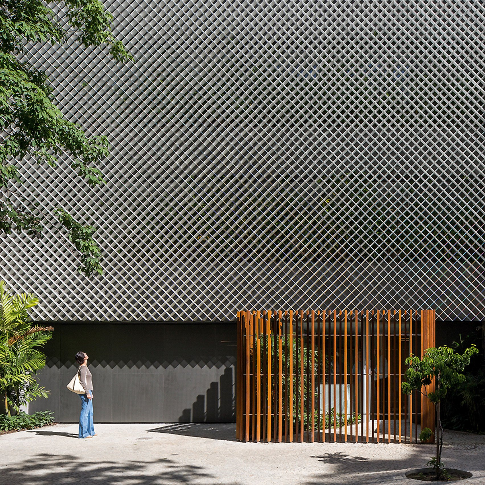 office facade. perfect facade bernardes arquitetura completes rio office block fronted by perforated  metal and plants with office facade g