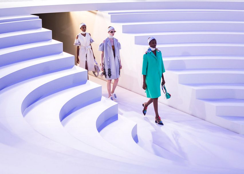 Anya Hindmarch presents Spring Summer 2017 collection on amphitheatre catwalk