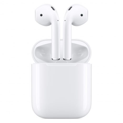Apple's AirPod headphones connect wirelessly to iPhones and other devices