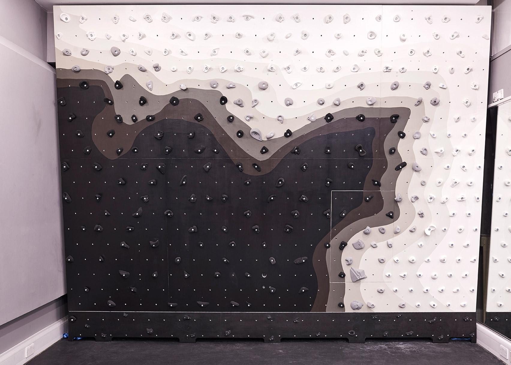 Patternity installs monochrome climbing wall inside London's Ace Hotel