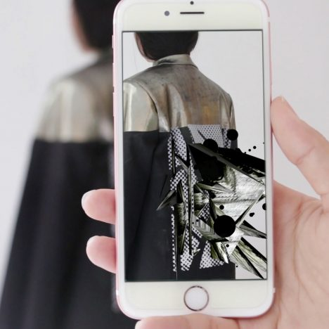 Kailu Guan shows augmented reality apparel at New York Textile Month