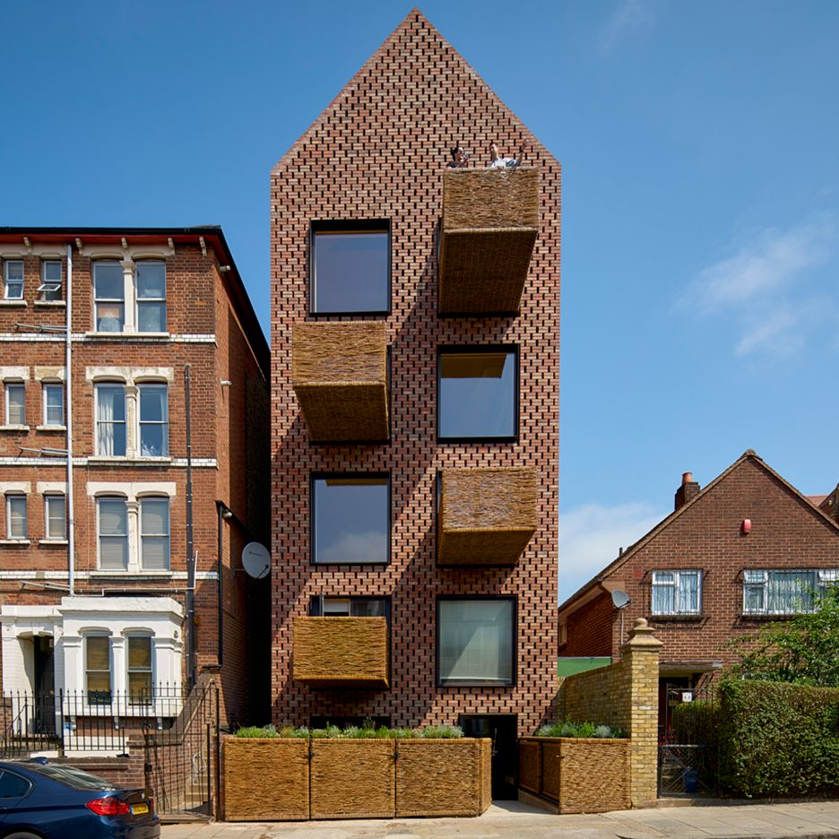 Timber Top Apartments: Slender Apartment Block By Amin Taha Architects Features A