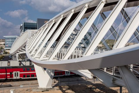 Beersheba station bridge in Israel is shaped like a pair of eyes