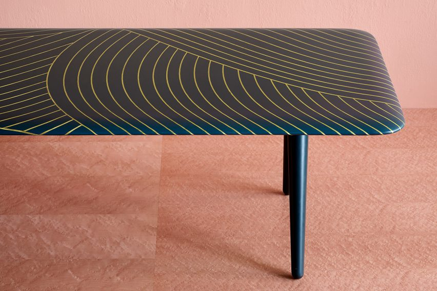 Bethan Gray bases brass-patterned tables on Omani architecture