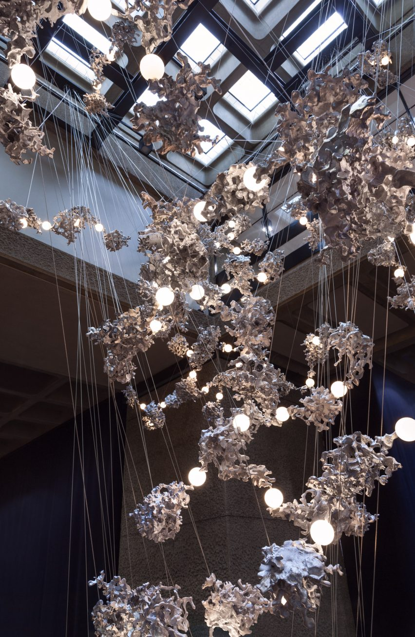 top omer arbel. bocci immersive light installation at the barbican for london design festival 2016 top omer arbel e