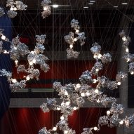 Omer Arbel suspends aluminium lighting sculpture above Barbican foyer