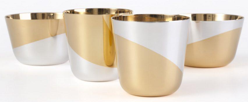 Bols d'Or silver vessels for Jarosinski & Vaugoin by Thomas Feichtner