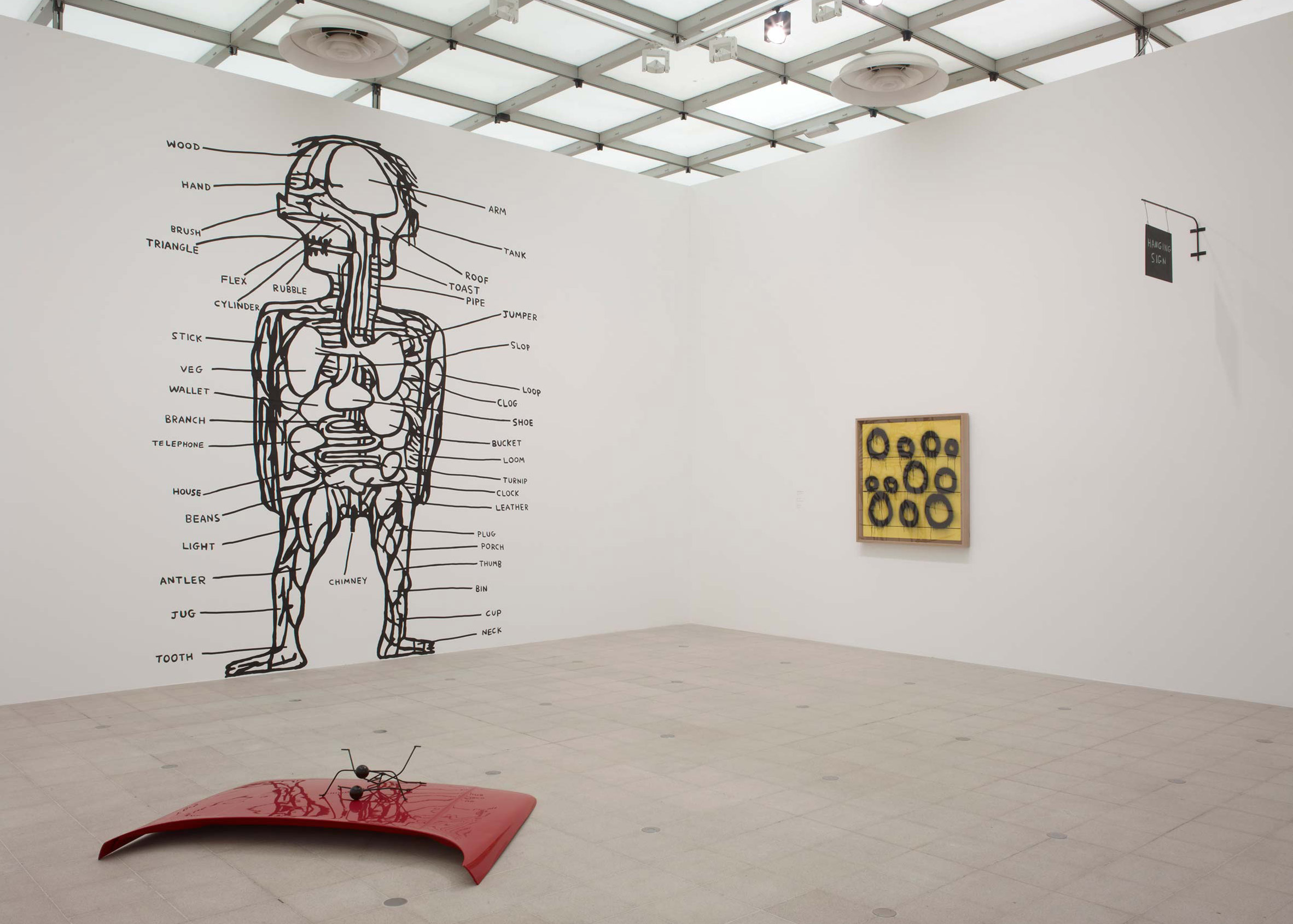 David Shrigley: Brain Activity at the Hayward Gallery, 2012. Image courtesy of Stephen Friedman Gallery