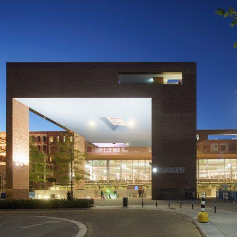 Koen van Velsen Architects creates patchwork brick walls for bus and rail station in Breda
