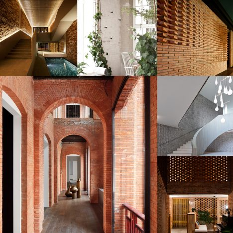 10 of the most popular brick interiors on Dezeen's Pinterest boards