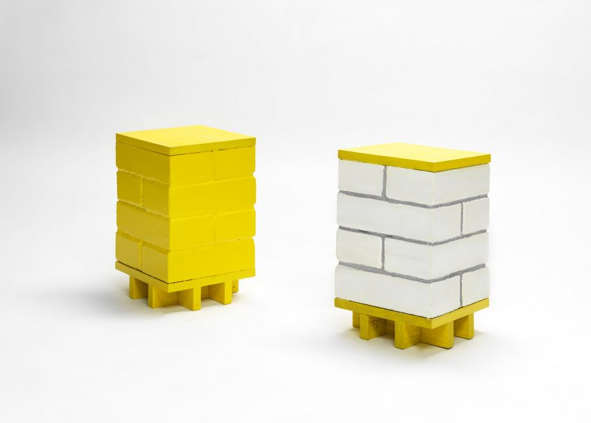 thomas schnur exhibits six furniture pieces for fragments of the ordinary exhibition brick l