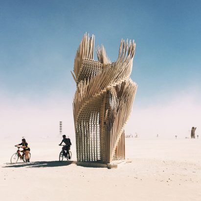 Tangential Dreams by Arthur Mamou-Mani at Burning Man 2016