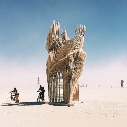Tangential Dreams by Arthur Mamou-Mani at Burning Man 2016