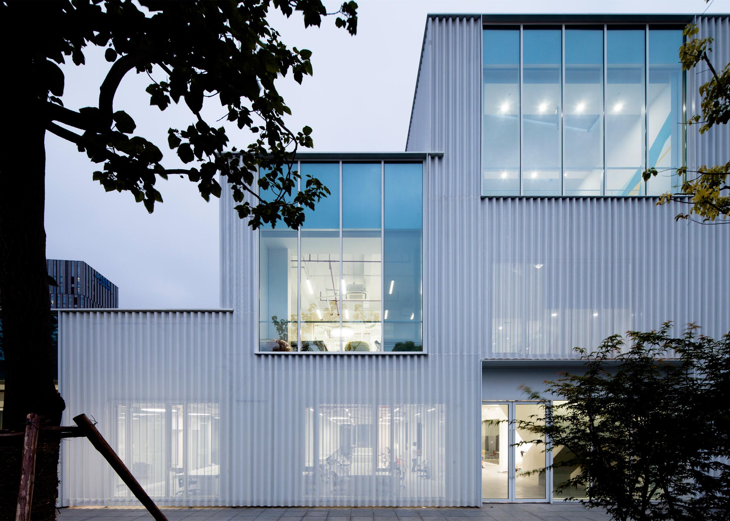 Shanghai office transformed into aluminium-clad tech incubator by Schmidt Hammer Lassen