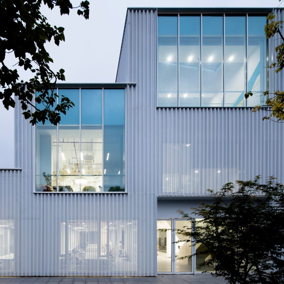 Metal Work Photos Industrial Architectural Residential: Shanghai Office Transformed Into Aluminium-clad Tech