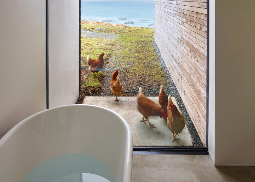 Cliff House by Dualchas features in Dezeen's Pinterest bathroom roundup