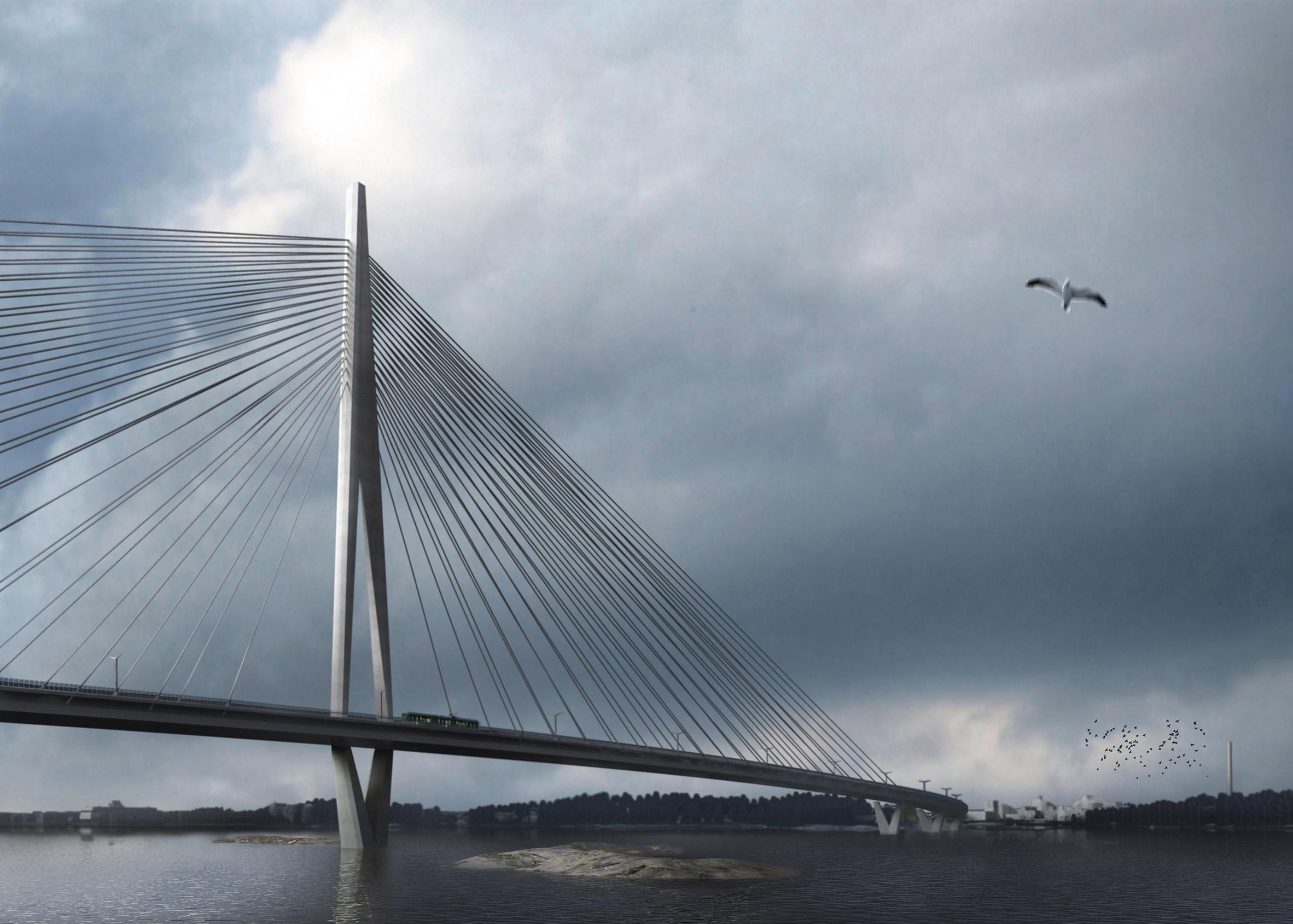 Knight Architects unveils design for Finland's longest bridge