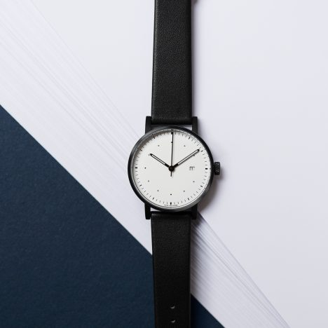 "Limited-edition Dezeen watch by Void is ""stripped back until it's almost blank"""