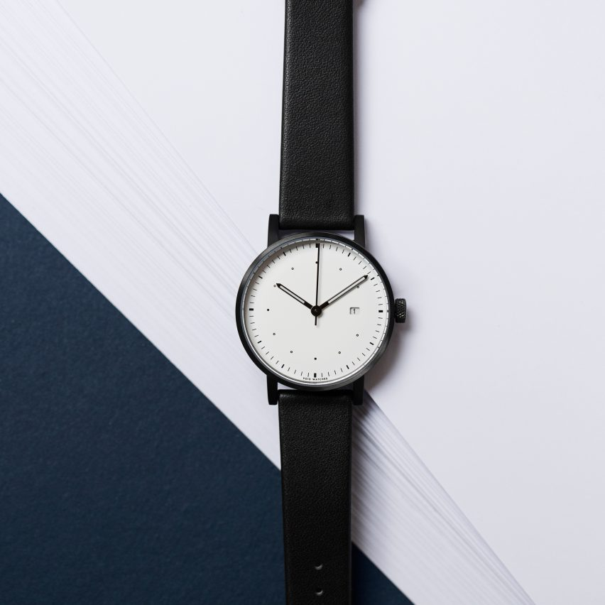 Watches on sale at the popup include this exclusive Dezeen collaboration with Swedish brand Void