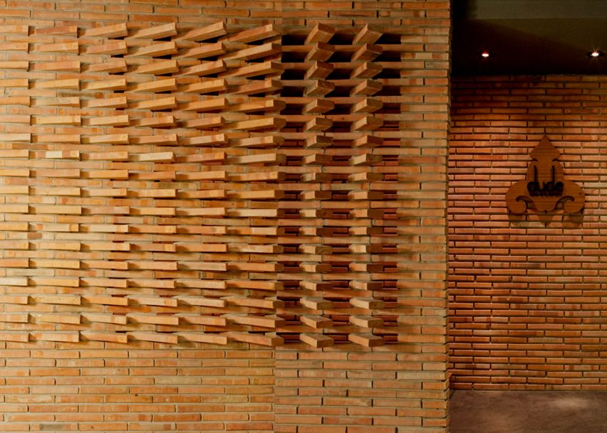 Dude Cigar Bar by Studiomake on the top 10 brick interiors on Dezeen's Pinterest boards