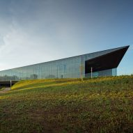Estonia's wedge-shaped national museum opens on former Soviet airbase