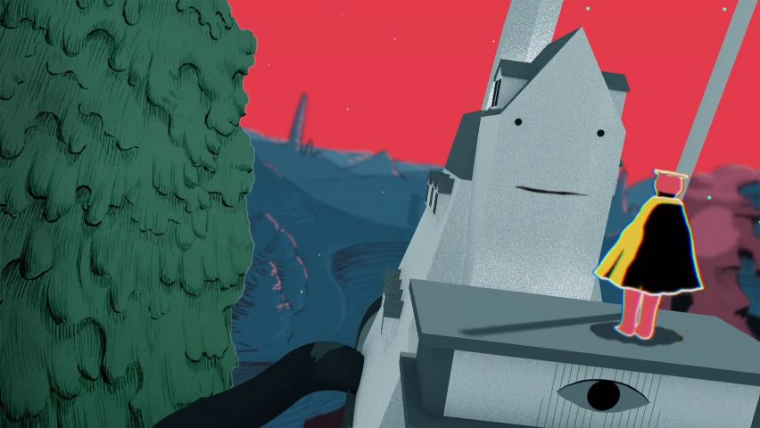 Gustaf Holtenäs animates a space cartoon for Fabula Spatium music video