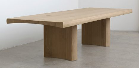Barber and Osgerby base minimal wooden table on Japanese joinery