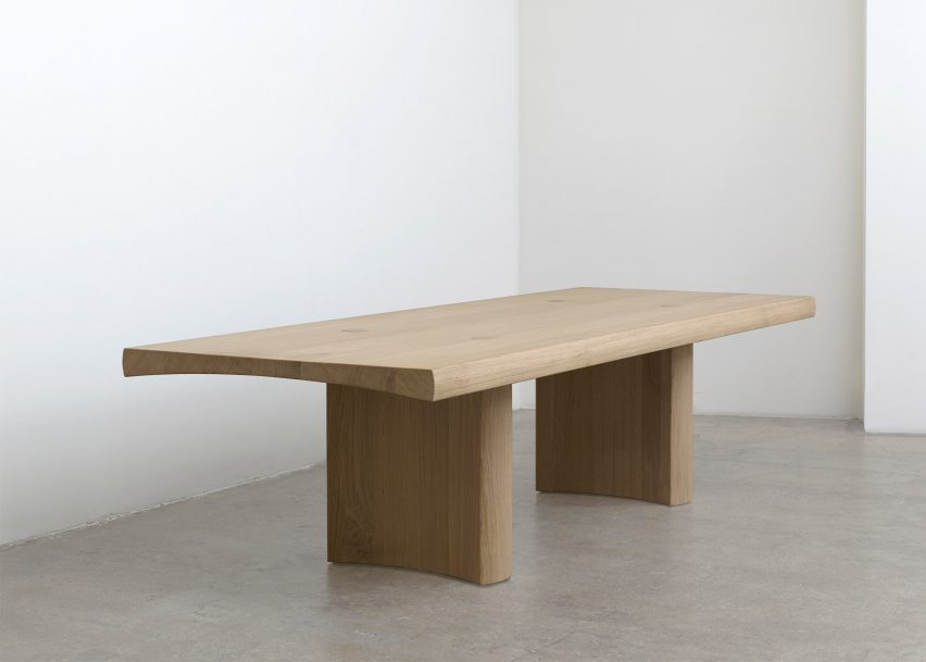 Barber And Osgerby Base Wooden Table On Minimal Japanese Joinery