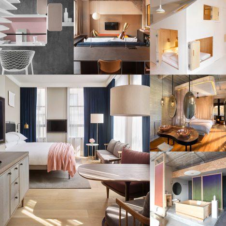 10 of the most popular hotel rooms on Dezeen's Pinterest boards