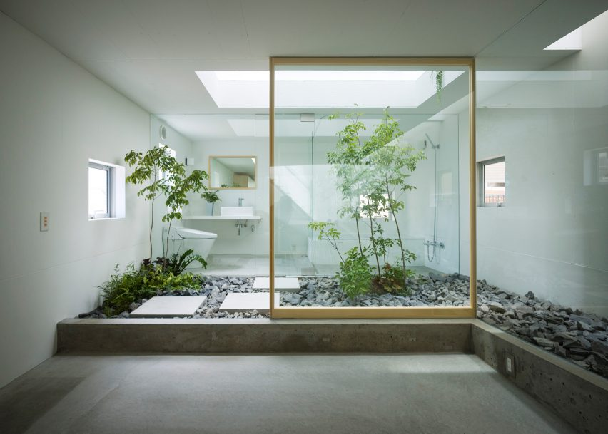 House in Nagoya by Suppose Design Office features in Dezeen's Pinterest bathroom roundup