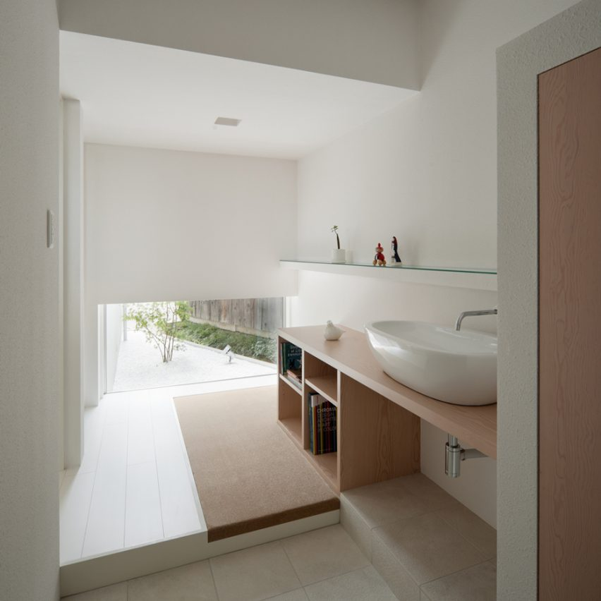 House of Reticence features in Dezeen's Pinterest bathroom roundup