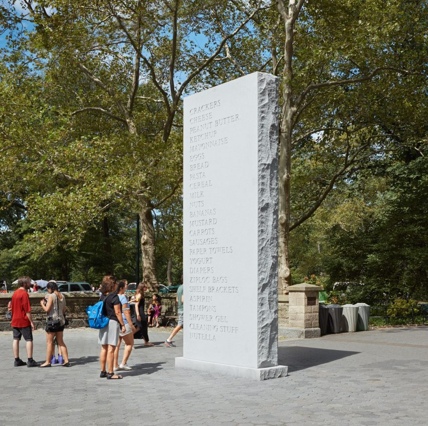 Memorial, 2016. Photograph by Jason Wyche, courtesy of the artist, Anton Kern Gallery and Public Art Fund