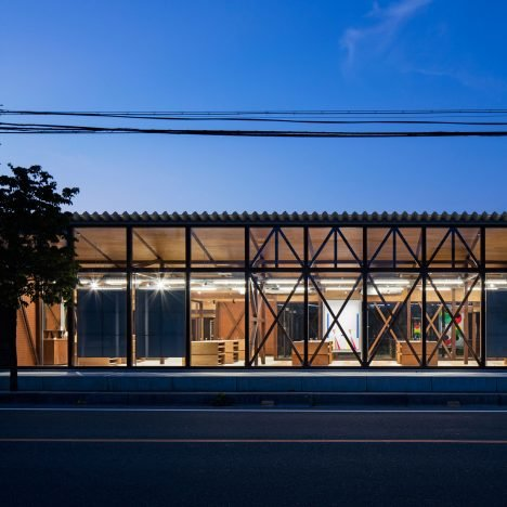 Schemata Architects deconstructs interior of Jins eyewear shop in Japan