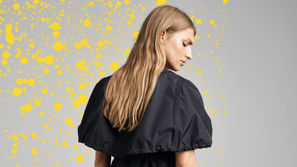 Emma Jorn designs rainproof skirts, dresses and jumpsuits for Ilse Jacobsen