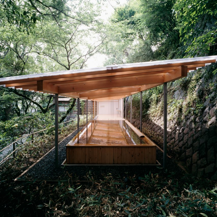 Kengo Kuma's sauna is part of Jane Withers' Soak Steam Dream exhibition at the London Design Festival 2016