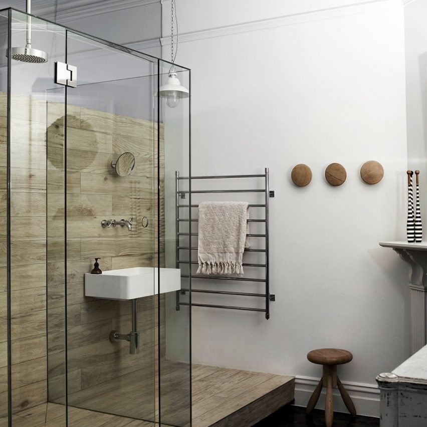 Kerferd Place features in Dezeen's Pinterest bathroom roundup