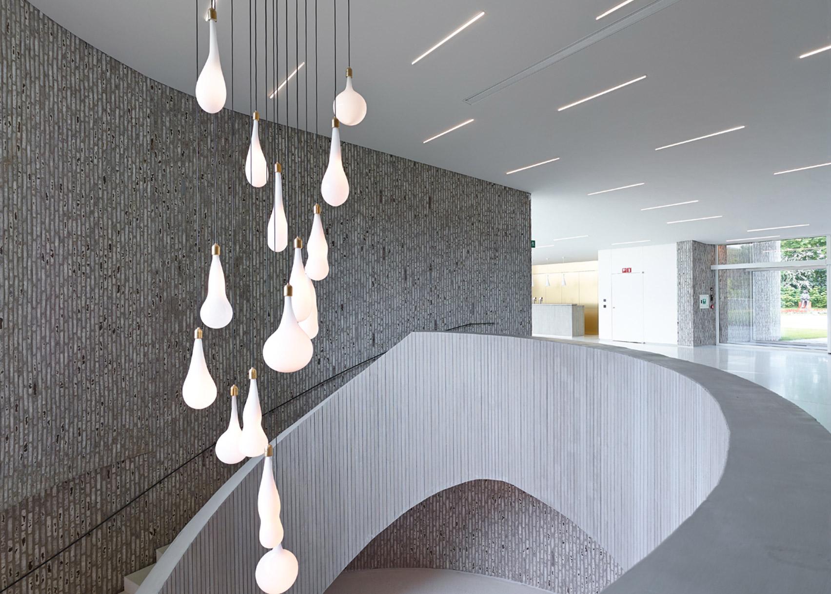 Kortrijk Auditorium by Dehullu Architecten on the top 10 brick interiors on Dezeen's Pinterest boards