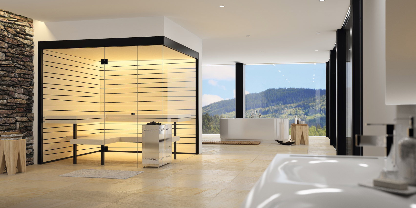 Swiss manufacturer Küng brings the sauna tradition to the living room
