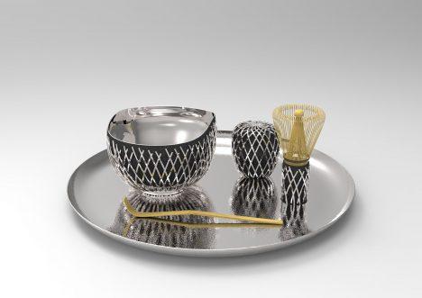 Kengo Kuma designs £60,500 silver tea set for Georg Jensen