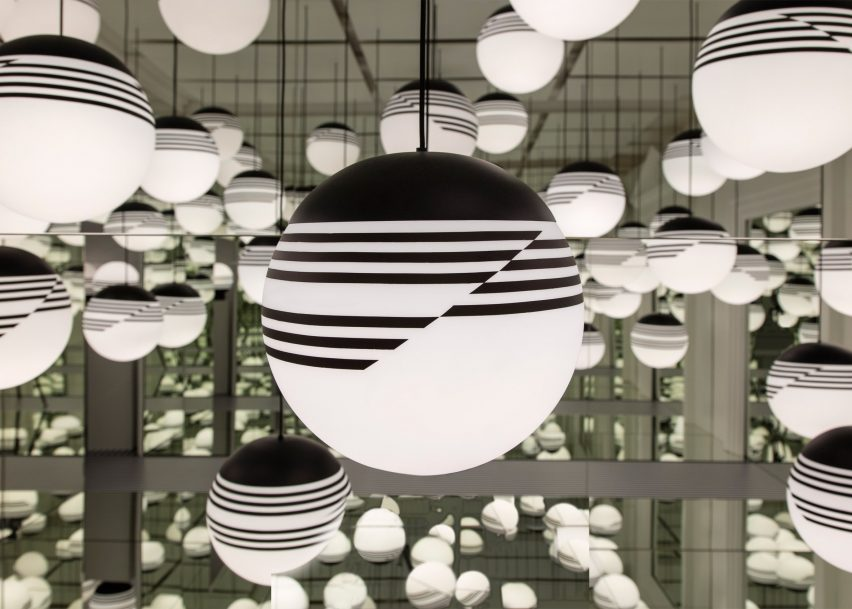 Lee Broom transforms London store into abstract Op Art installation