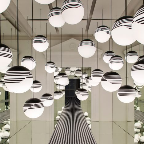Lee Broom fills London store with infinite pendant lights