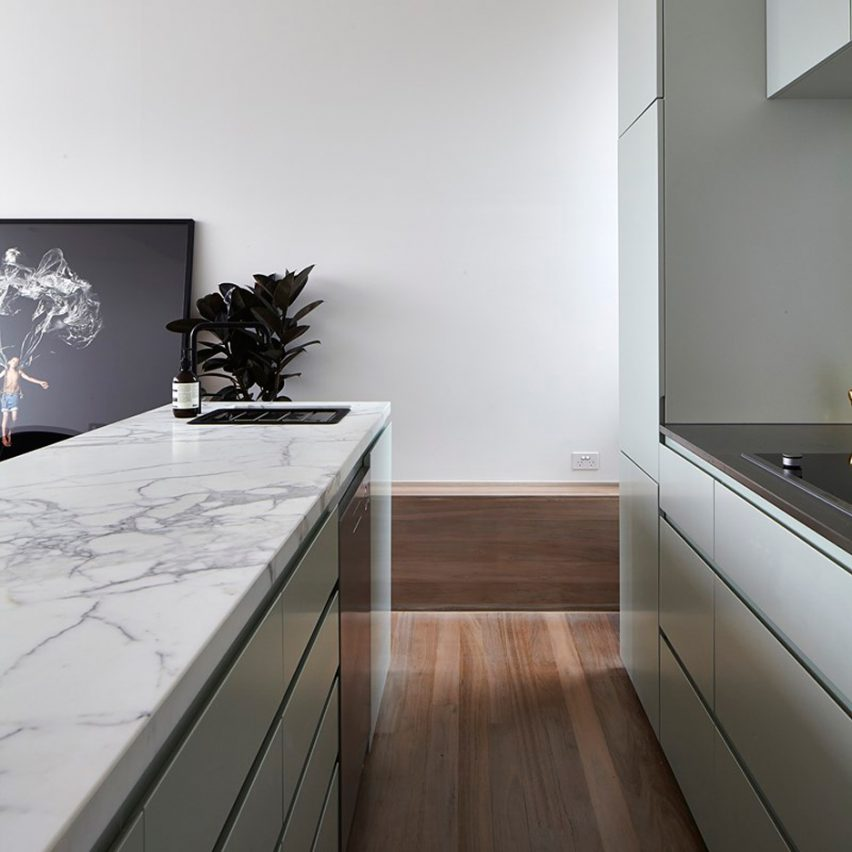 Lightbox House by Edwards Moore is one of the 10 most popular marble interiors on Pinterest