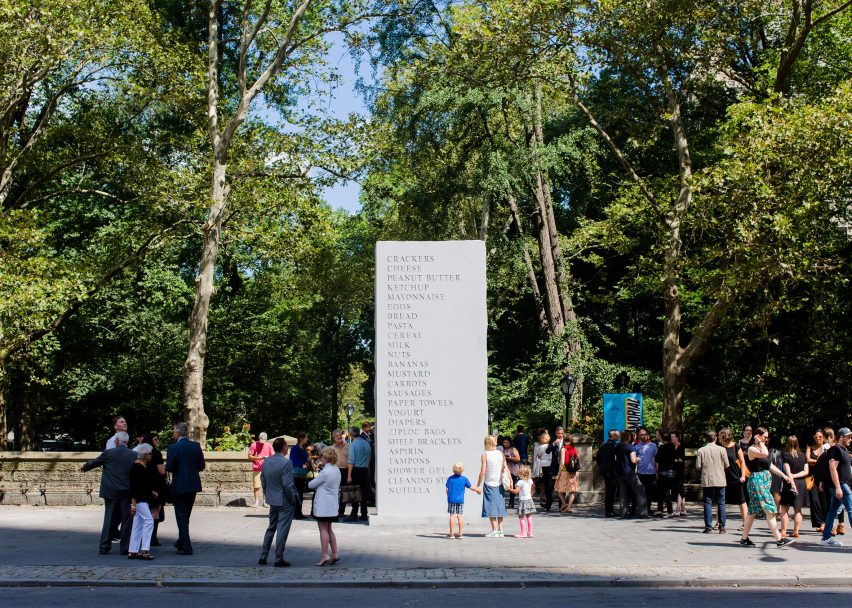 Memorial, 2016. Photograph by Liz Ligon, courtesy of the artist, Anton Kern Gallery and Public Art Fund
