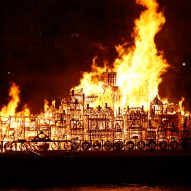 Huge wooden model torched on 350th anniversary of Great Fire of London